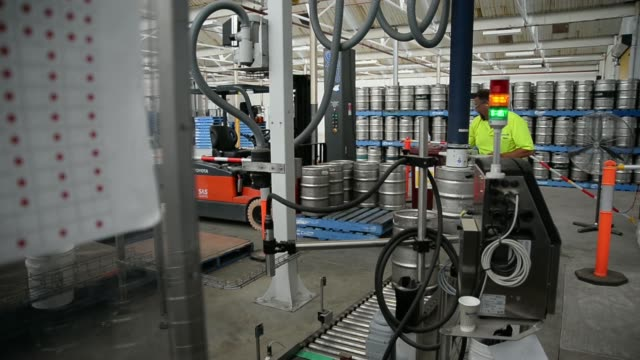 A vehicle exits the Little Creatures craft brewery operated by Kirin Holdings Co's Australian unit Lion in Geelong Victoria Australia on Monday Feb...