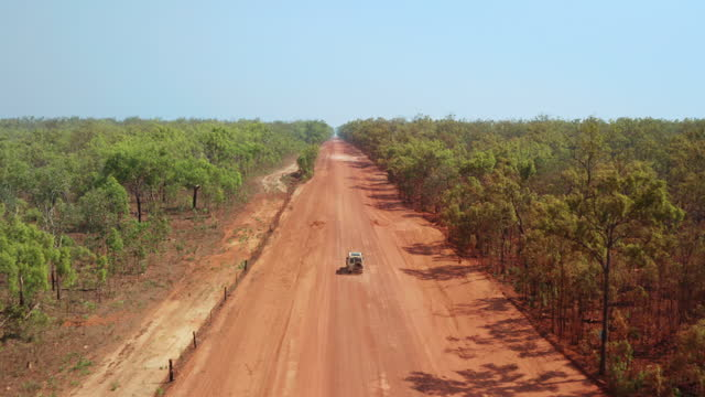 a vehicle on a remote outback dirt road - independence stock videos & royalty-free footage