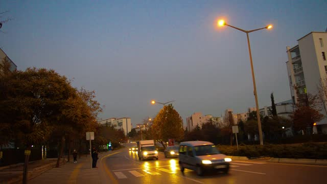 vehicles are driven along a street ahead of a partial weekday curfew on december 2, 2020 in ankara, turkey. turkey imposes a partial weekday curfew... - weekday stock videos & royalty-free footage