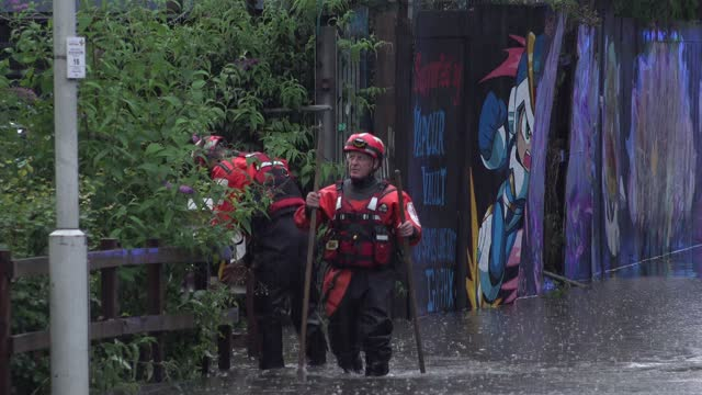 GBR: Flooding In London After Heavy Rain