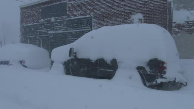 vehicles buried under deep snow - scott mcpartland stock videos & royalty-free footage