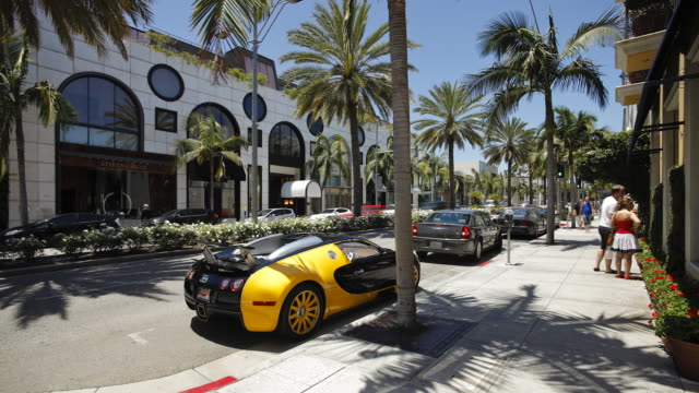 vehicles on rodeo drive, beverly hills, los angeles, california, united states of america, north america, time-lapse  - beverly hills stock videos & royalty-free footage