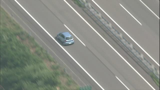 Vehicles travel on the Hokuriku Expressway in Niigata.