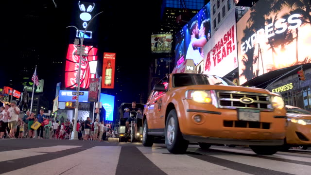 vehicular traffic, times square, new york city - 7th avenue stock videos & royalty-free footage