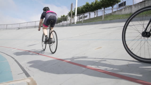 velodrome - racing bicycle stock videos and b-roll footage