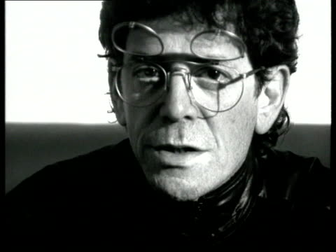 velvet underground reform; england, london, acton, black island studios cms lou reed intvwd sot - all of those people who said that they wished that... - ルー リード点の映像素材/bロール