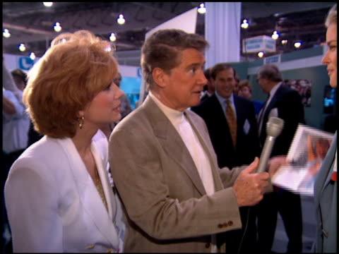 vídeos de stock e filmes b-roll de vendela at the natpe convention on january 25, 1995. - natpe convention