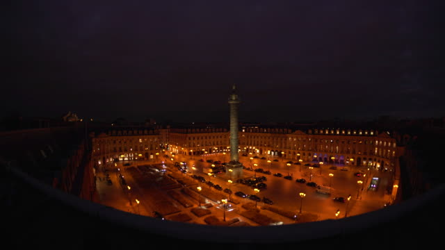 stockvideo's en b-roll-footage met vendome night - colonne vendome