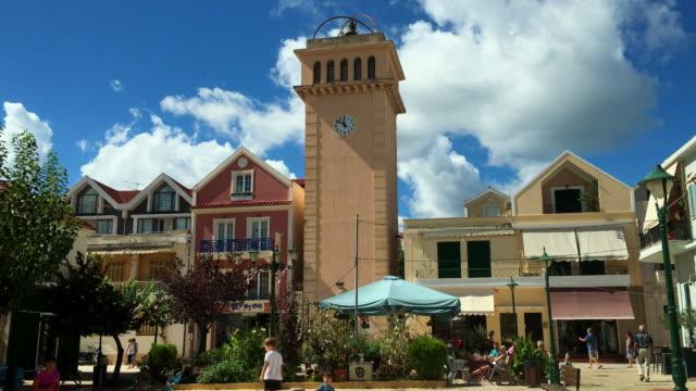 Venetian belltower on the Lithostroto in Argostoli