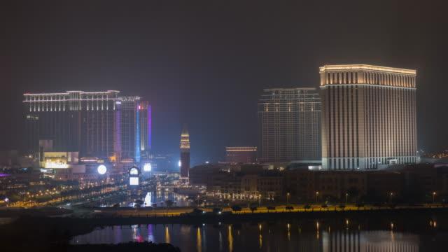 Venetian casino, Macau night-to-day time lapse