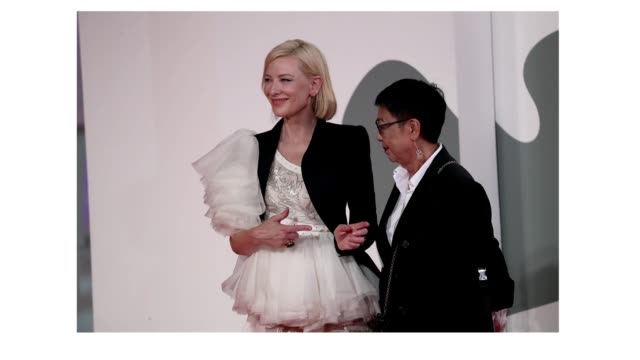 venice italy september 08 venezia77 jury president cate blanchett and director ann hui walk the red carpet ahead of the movie di yi lu xiang at the... - gif stock videos & royalty-free footage