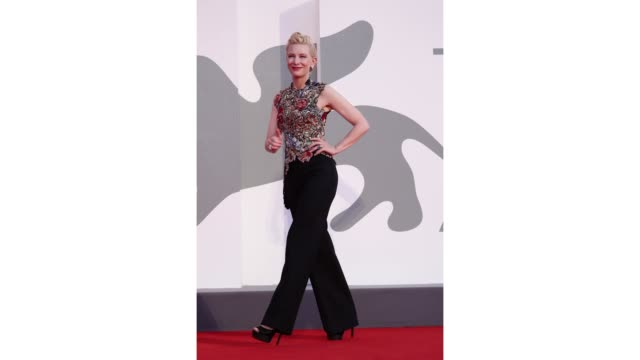 gif venezia77 jury president cate blanchett walks the red carpet ahead of the movie amants at the 77th venice film festival on september 03 2020 in... - gif stock videos & royalty-free footage