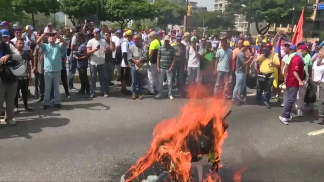 venezuela braced for rival demonstrations wednesday for and against president nicolas maduro whose push to tighten his grip on power has triggered... - tighten stock videos & royalty-free footage