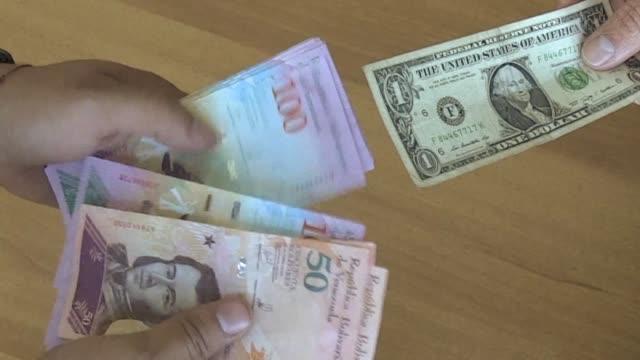 venezuela devaluo el lunes su moneda 3483% con lo cual equiparo la tasa oficial del dolar con la del mercado negro en medio de la crisis politica por... - politica stock videos & royalty-free footage