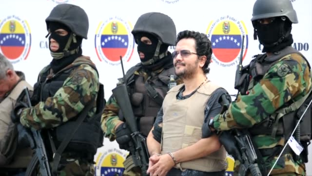 venezuela extradites a colombian drug kingpin known as 'el valenciano' to the united states on thursday, one month after the capture of the man... - drug trafficking stock videos & royalty-free footage
