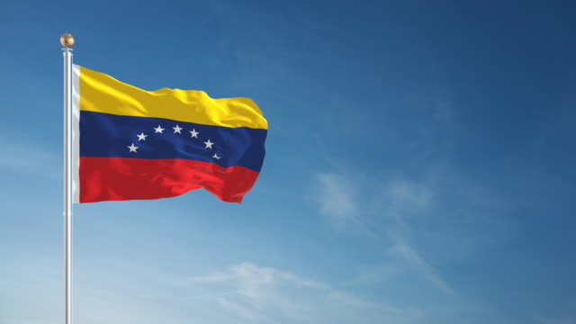 4k venezuela flag - loopable - venezuela stock videos & royalty-free footage