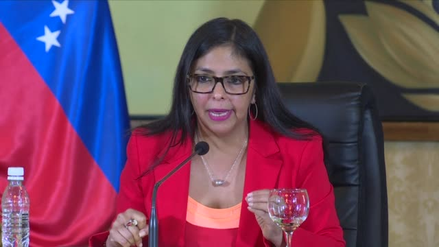 venezuela foreign minister delcy rodriguez accused her south american counterparts who voted in favour of excluding venezuela from mercosur are... - mercosur stock videos & royalty-free footage