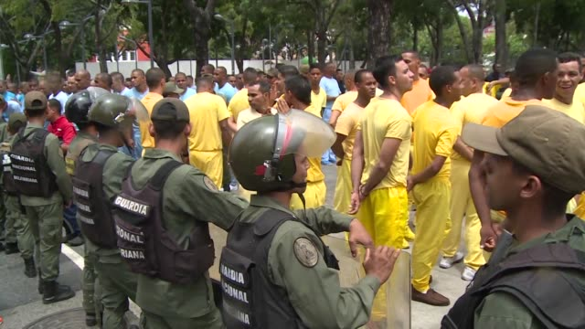 Venezuela government allowed some 300 prison inmates to hold a demonstration in downtown Caracas on Friday to argue that many signatures collected by...