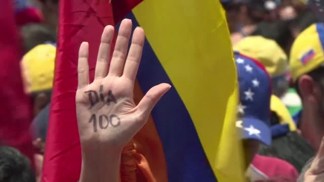 venezuela hit its 100th day of anti government protests sunday amid uncertainty over whether the release from prison a day earlier of prominent... - political prisoner stock videos & royalty-free footage