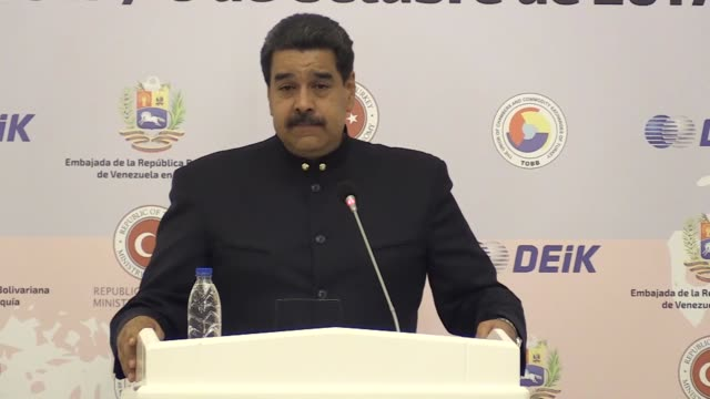venezuela is ready to offer all conditions for turkish entrepreneurs who are keen on investing in the country venezuela's president nicolas maduro... - maduro stock videos & royalty-free footage