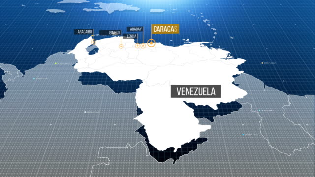 venezuela map - venezuela stock videos & royalty-free footage