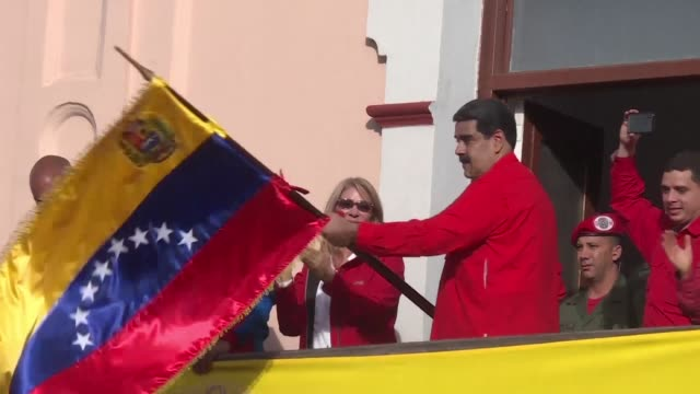 venezuela president nicolas maduro announces he is breaking off diplomatic ties with the united states after donald trump recognized opposition... - maduro stock videos & royalty-free footage