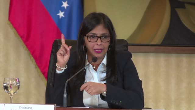 venezuela protests against a meeting of mercosur bloc members in new york to which it was not invited says foreign minister delcy rodriguez - mercosur stock videos & royalty-free footage