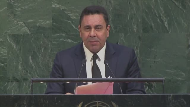 Venezuelan Ambassador to the UN Samuel Moncada speaks at an emergency session of United Nations General Assembly on Jerusalem at UN Headquarters in...