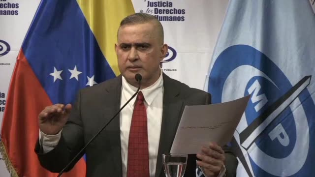 venezuelan attorney general tarek william saab says that the autopsy of opposition member fernando alban who died in detention after he was arrested... - attorney general stock videos & royalty-free footage