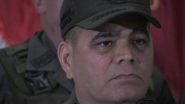 venezuelan defense minister general vladimir padrino says the alleged attack using explosive laden drones during a military parade in caracas which... - head chopped off stock videos & royalty-free footage