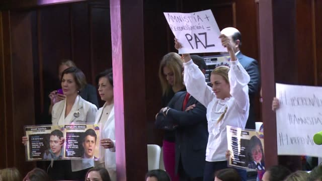 venezuelan lawmakers opened debate thursday on an amnesty bill for political prisoners a key legislative initiative for the opposition majority that... - political prisoner stock videos & royalty-free footage