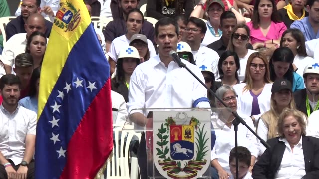 Venezuelan opposition leader Juan Guaido calls for nationwide protests next week to support volunteers planning to travel to the border with Colombia...