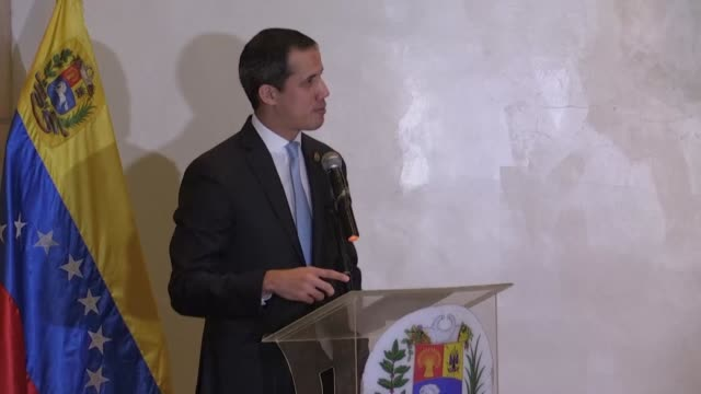 venezuelan opposition leader juan guaido says he will not move an inch in his attitude towards the government despite the detention of his uncle... - inch stock videos & royalty-free footage