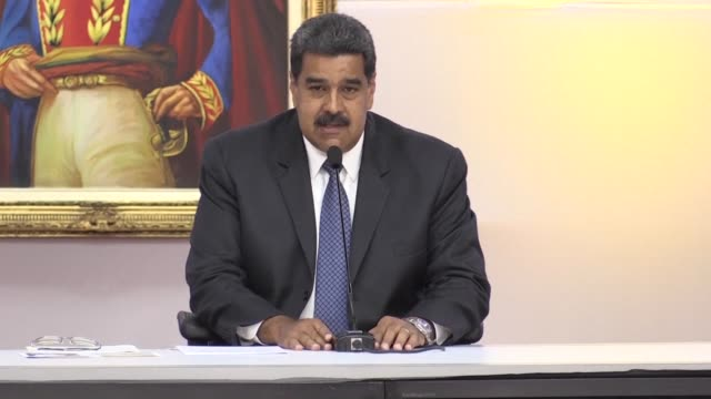vídeos y material grabado en eventos de stock de venezuelan president nicolas maduro calls on opposition candidates to recognize the result of the upcoming presidential elections saying he will... - injusticia