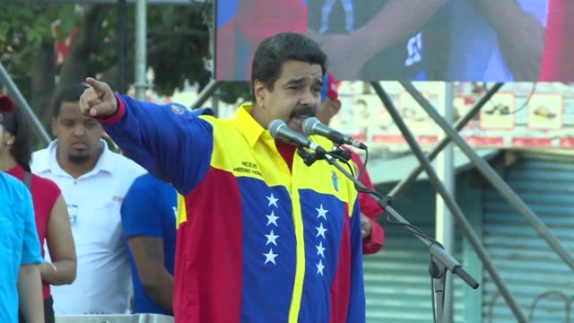 venezuelan president nicolas maduro participates on thursday in the final campaign rally for the ruling united socialist party of venezuela ahead of... - chave stock videos and b-roll footage