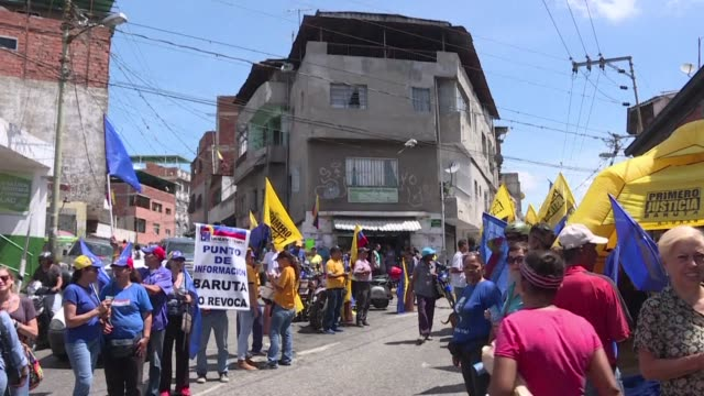 Venezuela's opposition held nationwide rallies Wednesday against President Nicolas Maduro seeking to show its strength by having protesters sign...