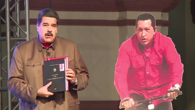 vídeos de stock, filmes e b-roll de venezuelas president nicolas maduro says that the absence of hugo chavez and what he denounces as an economic war make the upcoming legislative... - maduro
