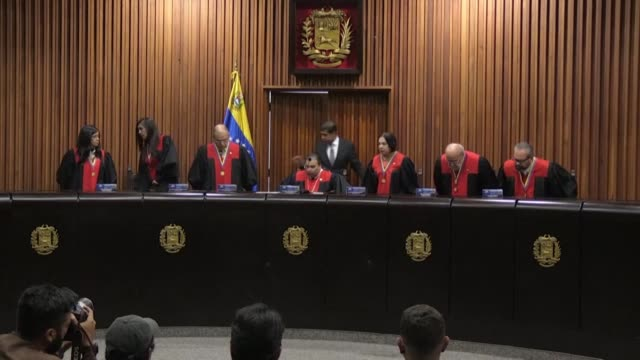 venezuela's supreme court of justice rejects a vote by the opposition led national assembly to re join a regional defense treaty that could provide a... - legal defense stock videos and b-roll footage
