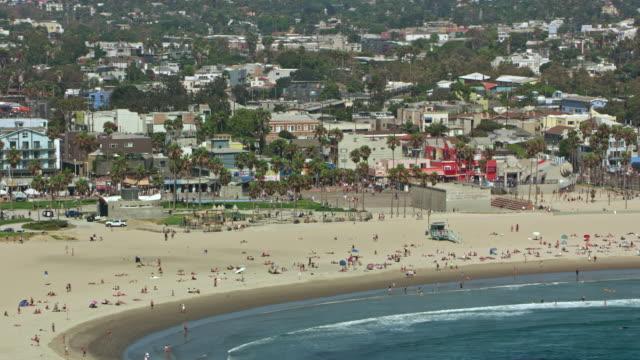 aerial venice beach, california - venice beach stock videos and b-roll footage