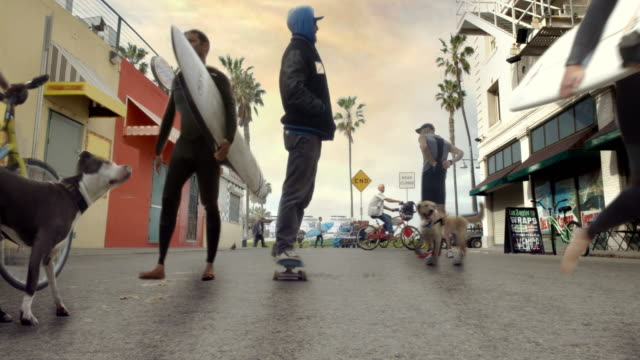 Venice Beach Cinemagraph Parallax Skater and Surfers 4K