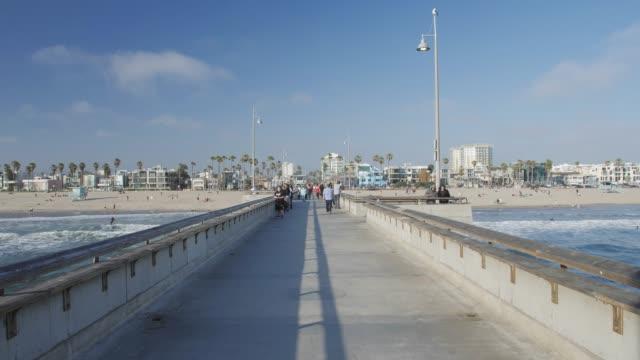 venice beach, sant monica, los angeles, la, california, usa, north america - pier stock videos & royalty-free footage