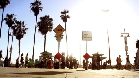 ベニスのビーチの眺め - ベニスビーチ点の映像素材/bロール