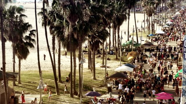 venice beach view - venice beach stock videos and b-roll footage