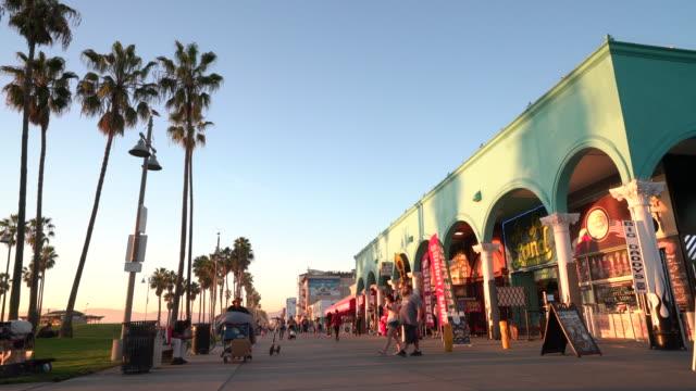venice boardwalk - venice beach stock videos & royalty-free footage