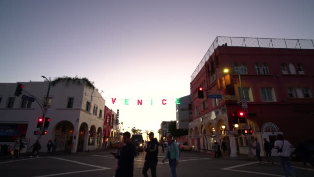 venice, ca at christmas - push scooter stock videos & royalty-free footage