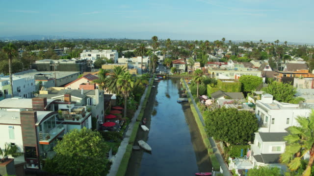 Venice Canal Historic District, Los Angeles - Drone Shot