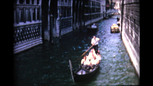 1964 venice canals and gondolas - italy stock videos and b-roll footage