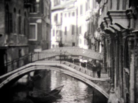 1929 venice canals and two women at cafe table - 1929 stock videos & royalty-free footage