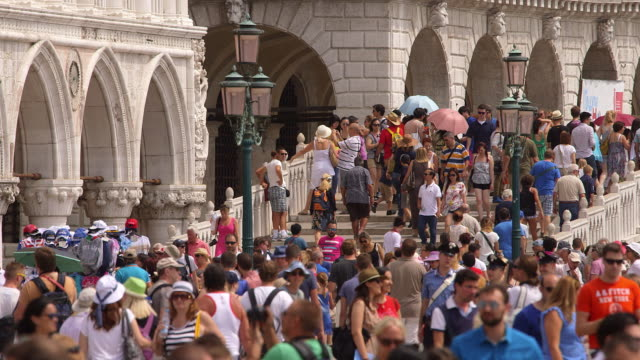 venice day 2 - tourist stock videos & royalty-free footage