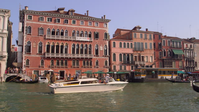 venice day 4 - water taxi stock videos & royalty-free footage
